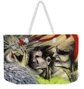 Devil Vs Angel Weekender Tote Bag