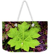 Devil's Club Leaf Weekender Tote Bag