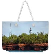 Devils Island Apostle Islands Lighthouse Weekender Tote Bag