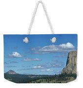 Devils Tower And The Missouri Hills Weekender Tote Bag