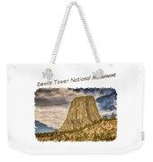 Devils Tower Inspiration 2 Weekender Tote Bag