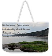 Devotion By Poet Robert Frost Weekender Tote Bag