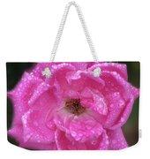 Dew Covered Rose Weekender Tote Bag