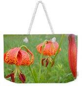 Dew Covered Tiger Lilies Weekender Tote Bag