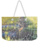 Dew Drops On A Spider Web Weekender Tote Bag