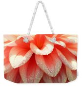 Dew -drops On The Dahlia 2  Weekender Tote Bag