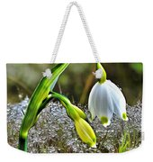 Dew On Lilly Of The Valley Weekender Tote Bag