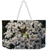 Dew On Queen Annes Lace Weekender Tote Bag