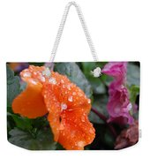 Dewy Pansy 2 - Side View Weekender Tote Bag