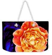 Dewy Peach Rose Weekender Tote Bag