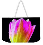 Dewy Pink Yellow Tulip Weekender Tote Bag