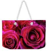 Dewy Rose Bouquet Weekender Tote Bag