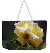 Dewy Yellow Rose 1 Weekender Tote Bag