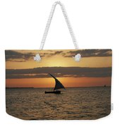 Dhow At Sunset Weekender Tote Bag