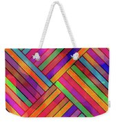 Diagonal Offset Weekender Tote Bag