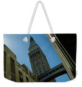 Diagonal View Of Pedestrian Bridge Weekender Tote Bag