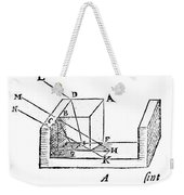 Diagram Showing Refraction, Kepler, 1611 Weekender Tote Bag