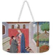 Dialogue Between Boethius And Philosophy Weekender Tote Bag