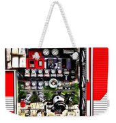 Dials And Hoses On Fire Truck Weekender Tote Bag