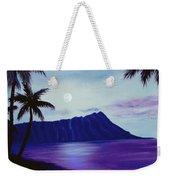 Diamond Head Moon Waikiki #34 Weekender Tote Bag