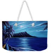 Diamond Head Moon Waikiki Beach #288 Weekender Tote Bag