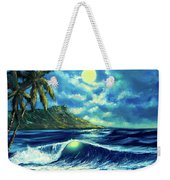 Diamond Head Moon Waikiki Beach #407 Weekender Tote Bag