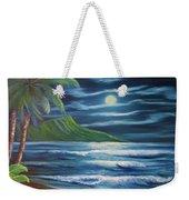 Diamond Head Moon Waikiki Beach  #409 Weekender Tote Bag