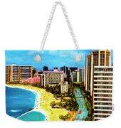 Diamond Head Waikiki Beach Kalakaua Avenue #94 Weekender Tote Bag
