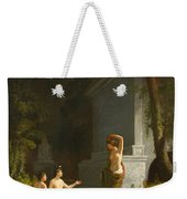 Diana At The Fountain Weekender Tote Bag