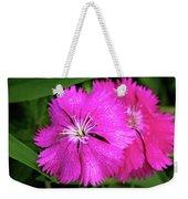 Dianthus First Love Flower Print Weekender Tote Bag