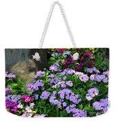 Dianthus Flower Bed Weekender Tote Bag by Corey Ford