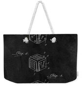Dice Cube Patent Weekender Tote Bag