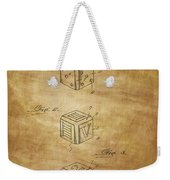 Dice Patent From 1923 Weekender Tote Bag