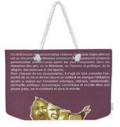 Dictionary Of Negroafrican Celebrities 2 Weekender Tote Bag