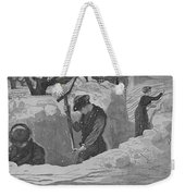 Digging Out Weekender Tote Bag