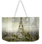 Digital-art Paris Eiffel Tower Geometric Mix No.1 Weekender Tote Bag by Melanie Viola