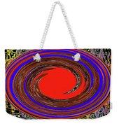 Digital Blue Red Plate Special Weekender Tote Bag