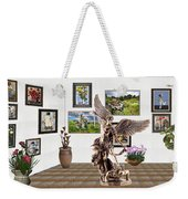 digital exhibition _  sculpture of a Angels and Demons  Weekender Tote Bag