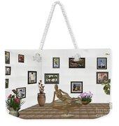 digital exhibition _ Statue of girl 48 Weekender Tote Bag
