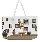 digital exhibition _ Statue of  Mother and child zombies Weekender Tote Bag