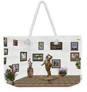 digital exhibition  Statue 25 of posing lady  Weekender Tote Bag
