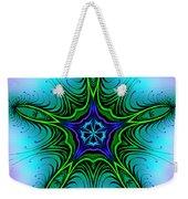 Digital Kaleidoscope Green Star 001 Weekender Tote Bag