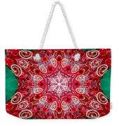 Digital Kaleidoscope Red-green-white 8 Weekender Tote Bag