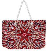 Digital Kaleidoscope Red-white 4 Weekender Tote Bag