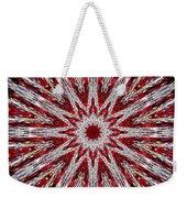 Digital Kaleidoscope Red-white 7 Weekender Tote Bag
