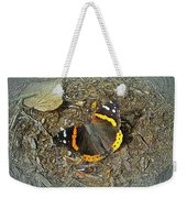 Digital Red Admiral Butterfly - Vanessa Atalanta Weekender Tote Bag