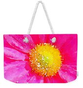 Digital Watercolour Of A Pink Daisy Pollen Flower Weekender Tote Bag