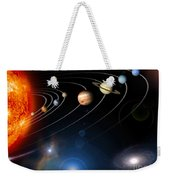 Digitally Generated Image Of Our Solar Weekender Tote Bag