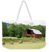 Dilapidated Old Red Barn Weekender Tote Bag