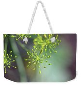 Dill Abstract On Mint Green And Plum Weekender Tote Bag